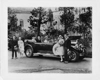 1929 Packard phaeton with Warner-Patterson wedding party