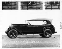 1929 Packard phaeton, left side view, top raised