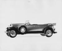 1929 Packard touring car, left side view, top folded