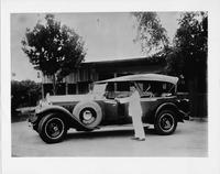 1929 Packard touring car with owner, Z.H. Sultan of Koeta Pinang