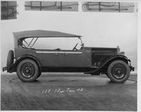 1929 Packard touring car, right side view, top raised