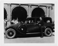 1929 Packard sedan with owner Joseph T. Robinson in Savannah, Ga.