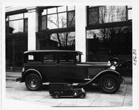 1929 Packard sedan with model of a 1929 special radio van for U.S. Department of Commerce