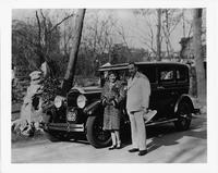 1929 Packard sedan with actress Mary Pickford in China