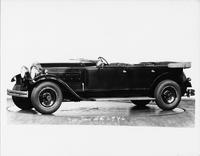1930 Packard touring car, nine-tenths left side view, top folded