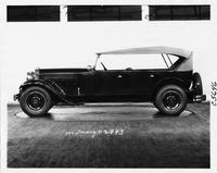 1930 Packard touring car, left side view, top raised