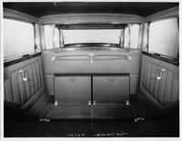 1930 Packard sedan limousine, view of rear interior
