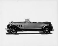 1930 Packard sport phaeton, left side view, top folded