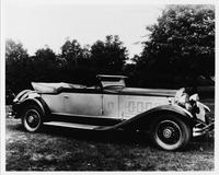 1930 Packard convertible victoria, seven-eighths right front view, top folded