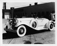 1930 Packard speedster, seven-eighths left front view, top folded