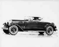 1930 Packard roadster, seven-eighths left front view, top raised