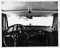 1930 Packard club sedan especially built for Alvan Macauley, view of front interior