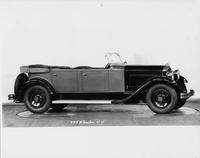 1931 Packard phaeton, right side view, top folded