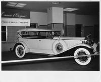 1931 Packard sport phaeton, nine-tenths right side view, top raised