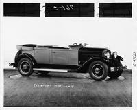 1931 Packard sport phaeton, seven-eighths right side view, top folded