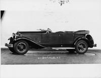 1931 Packard sport phaeton, nine-tenths left side view, top folded