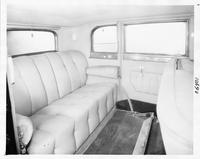1931 Packard sedan, view of rear interior through right rear door