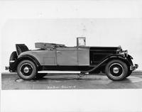 1931 Packard convertible coupe, right side view, top folded, rumble seat open