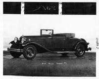 1931 Packard convertible coupe, three-quarter left side view, top folded