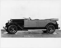 1931 Packard touring car, nine-tenths left side view, top folded