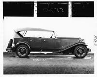 1931 Packard touring car, right side view, top raised