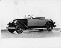 1931 Packard roadster, three-quarter left side view, top folded