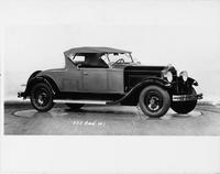 1931 Packard roadster, three-quarter right side view, top raised