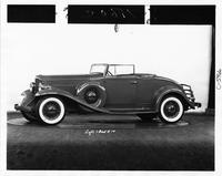 1932 Packard coupe roadster, seven-eights left side view, top folded