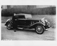 1932 Packard coupe roadster with Marjorie Hildreth of Columbus, Ohio