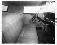 1932 Packard coupe, view of front interior from right