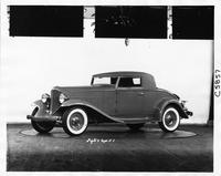 1932 Packard coupe, three-quarter left side view