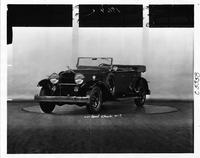 1932 Packard sport phaeton, three-quarter front view, top folded