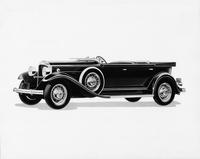 1932 Packard sport phaeton, seven-eights left side view, top folded