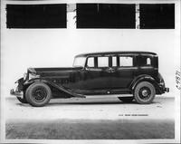 1933 Packard sedan, nine-tenths left side view