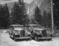 1933 Packard sedans with picturesque background in California
