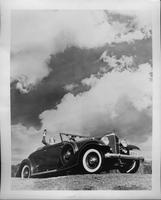 1933 Packard coupe-roadster against the clouds