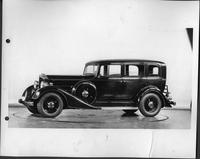 1934 Packard sedan, nine-tenths left side view