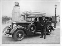 1934 Packard sedan with owner Octavio Ferreira Noval in Rio de Janiero