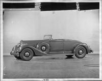 1934 Packard coupe roadster, nine-tenths left side view, top folded