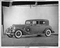 1934 Packard club sedan, seven-eights left side view