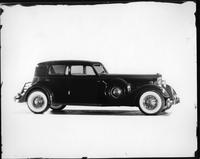 1934 Packard sport sedan, nine-tenths right side view
