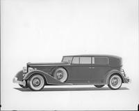 1934 Packard convertible sedan, nine-tenths left side view, top raised