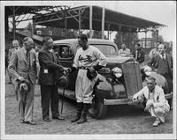 1935 Packard sedan being presented to Guy Sturdy, Baltimore Orioles' manager