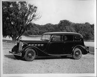1935 Packard sedan, seven-eights left side view