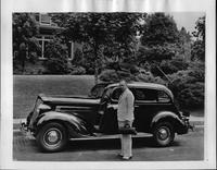 1935 Packard sedan and owner Dr. Nathaniel Boyd