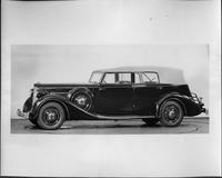1935 Packard convertible sedan, nine-tenths left side view, top raised