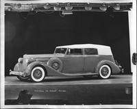 1935 Packard convertible sedan, seven-eights left side view, top raised