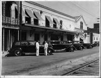 1935 Packard commercial sedans outside of Schoen Mortuary,  New Orleans, La.