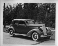 1935 Packard club sedan, three-quarter right side view