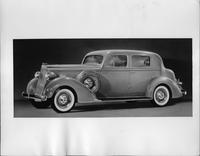 1935 Packard club sedan, seven-eights left side view